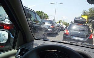 Des embouteillages à Montpellier (illustration).