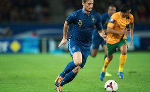 Olivier Giroud face à l'Australie, le 11 octobre 2013