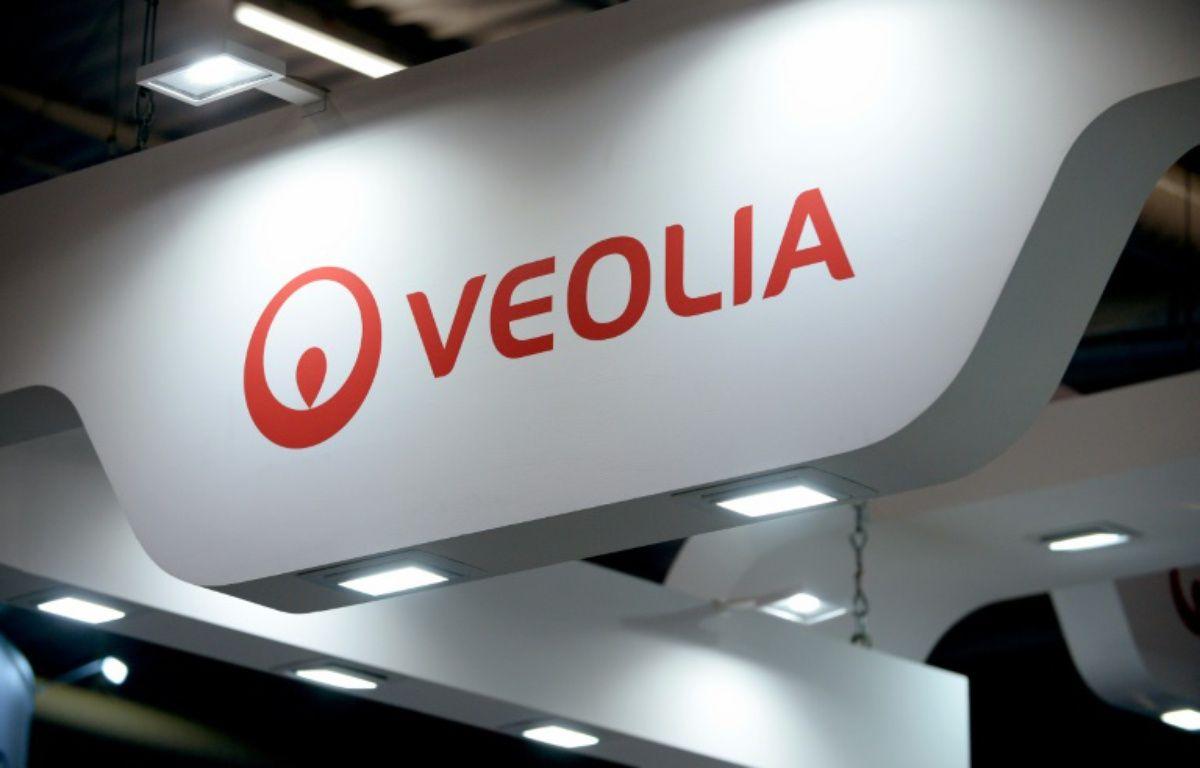 Le logo de Veolia. Photo prise le 28 juin 2016 – ERIC PIERMONT AFP