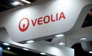 Le logo de Veolia. Photo prise le 28 juin 2016
