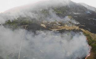 Vue aérienne des feux qui touchent l'Etat du Mato Grosso.
