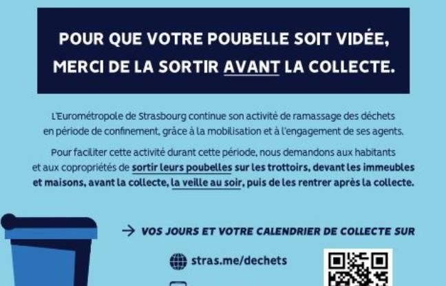 Affiche déchets Strasbourg Covid-19