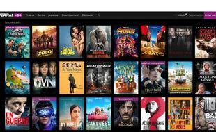 Comme sur CanalVOD, des films récents à 2 euros la location.