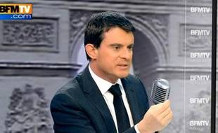 Manuel Valls le 21 janvier 2013 sur BFMTV.