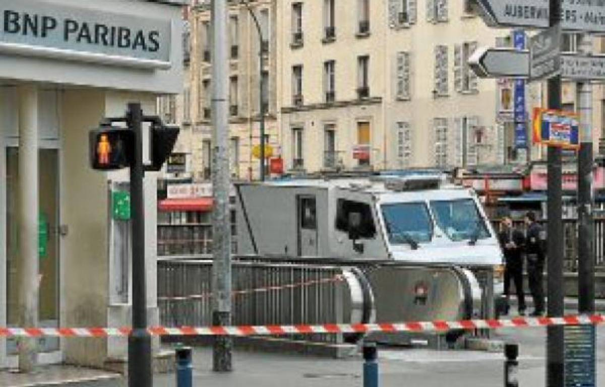 L'attaque a eu lieu devant une agence bancaire située à Aubervilliers. –  A. GELEBART / 20 MINUTES