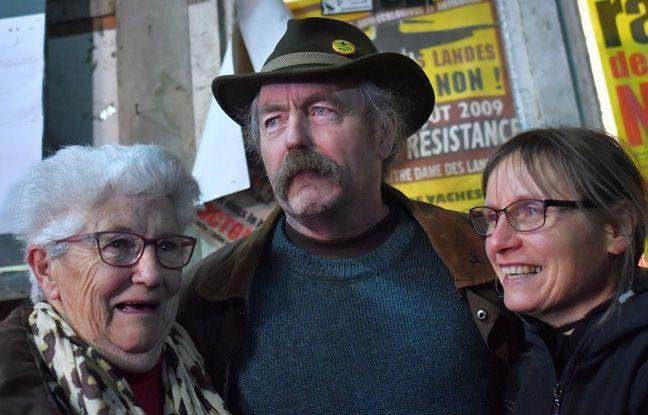 Sylvain Fresneau, agriculteur installé depuis des années sur la ZAD, le 17 janvier 2018.
