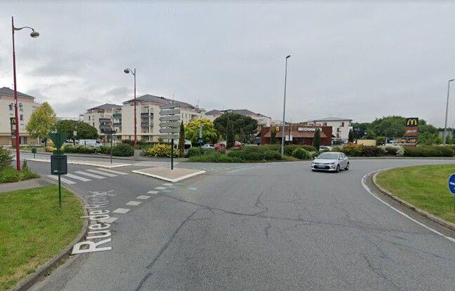Le rond-point du Taillis, à Cesson-Sévigné, où une cycliste a été tuée le 17 juin 2021.