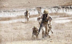Des militaires burkinabés, en février 2020 (illustration).