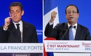 Nicolas Sarkozy (28%) et François Hollande (27%) sont restés inchangés cette semaine en intentions de vote au premier tour, Marine Le Pen (17%) gagnant 1 point et Jean-Luc Mélenchon (12%) en perdant 1, selon un sondage Harris Interactive pour VSD et La Chaîne parlementaire.