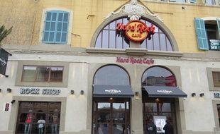 Marseille, le 1 décembre 2014, le Hard Rock Cafe a Marseille a ete inaugure.