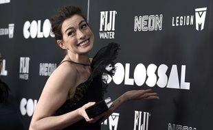 Anne Hathaway à l'avant-première de «Colossal», le 28 mars 2017.