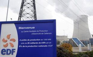 Vue extérieure en date du 4 décembre 2013 de la centrale nucléaire de Cattenom en Moselle
