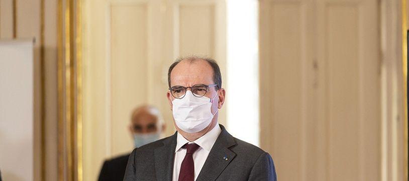 Le Premier ministre Jean Castex à Matignon le 11 février 2021.