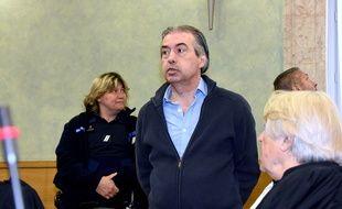 Jean-Louis Cayrou, le 23 mai 2016, à l'ouverture de son procès aux Assises de Rodez pour le meurtre de Patricia Wilson.