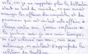 Capture d'écran de la lettre de Jean-Pierre Treiber publiée sur le site de Marianne
