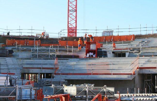 Gradins de la future Bordeaux Métropole Arena