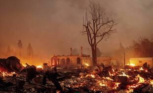 Le centre-ville de Greenville, en Californie, a été en grande partie détruit par l'incendie «Dixie fire».