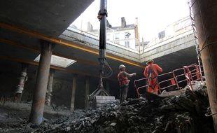 Les dessous de la place Saint-Germain où la station de métro est creusée.