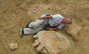 Une des plus grandes traces de patte de dinosaure jamais enregistrées a été découverte, an août 2016, dans le désert de Gobi (Mongolie) par une équipe de chercheurs mongoles et japonais.