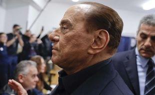 Silvio Berlusconi, chef de Forza Italia, le 4 mars 2018 à milan pour les législatives italiennes