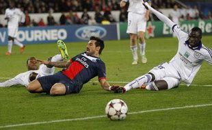 Ezequiel Lavezzi et le PSG n'ont pas réussi à battre Anderlecht le 5 novembre 2013.