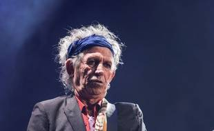 Keith Richards, le guitariste des Rolling Stones au Glastonbury Festival 2013
