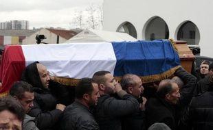 Inhumation d'Ahmed Merabet le 13 janvier 2015 au cimetière de Bobigny