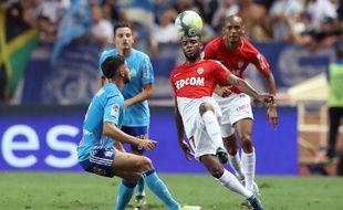 Thomas Lemar lors de la large victoire de Monaco face à l'OM (6-1), le 27 août 2017 au Stade Louis-II.