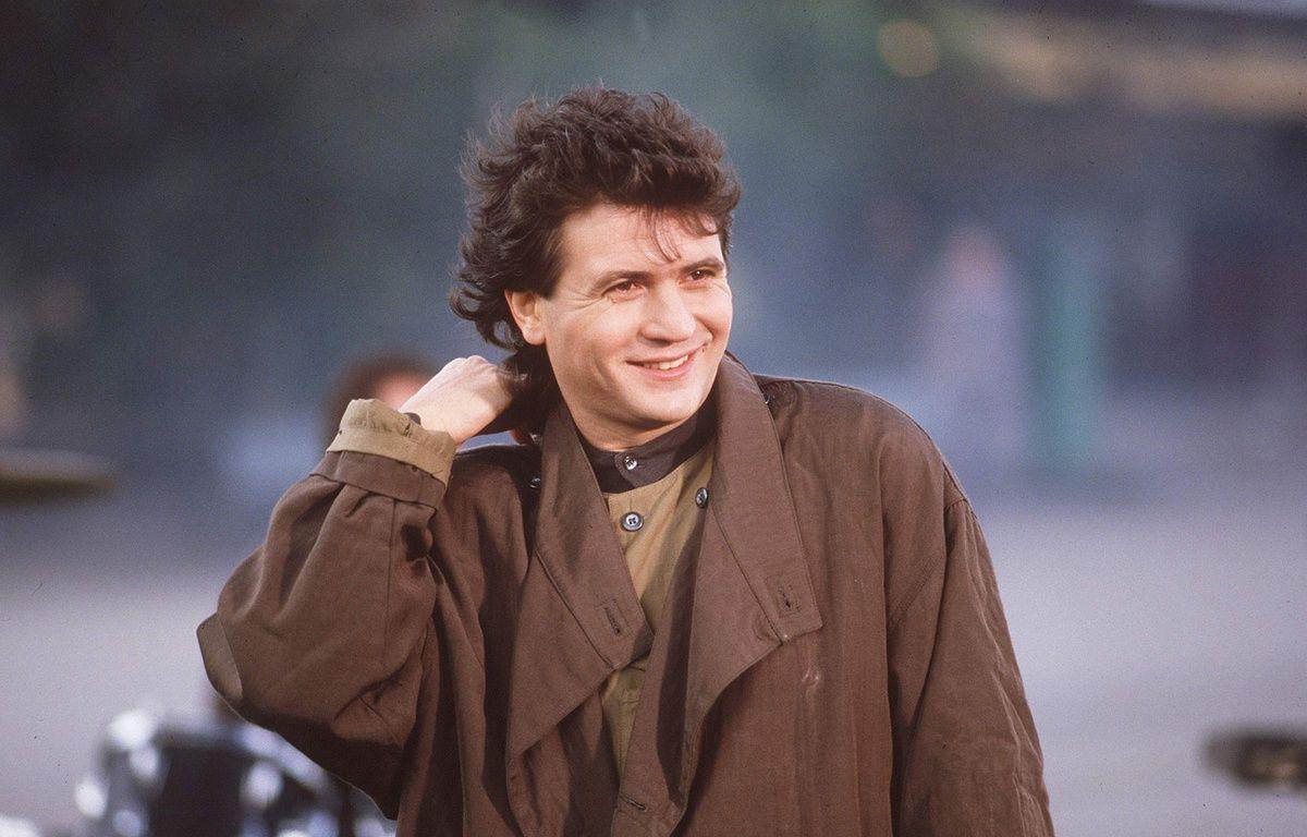 Daniel Balavoine sur le tournage d'un clip en 1985 – BOUTARD/SIPA