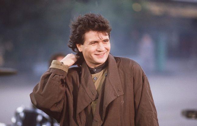 Daniel Balavoine sur le tournage d'un clip en 1985