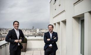 Cédric O, secrétaire d'État chargé de la Transition numérique et des Communications électroniques et Adrien Taquet, secrétaire d'État en charge de l'Enfance et des Familles.