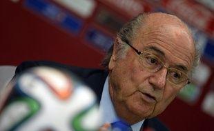 Sepp Blatter, le président de la Fifa, le 19 décembre 2013, à Casablanca.