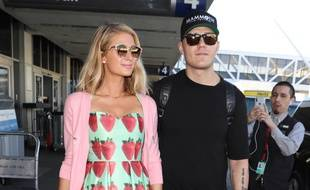 Paris Hilton accompagnée de son fiancé, Chris Zylka.