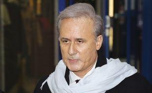 Georges Tron arrive à la cour d'assises de Seine-Saint-Denis,à Bobigny, où il est jugé pour viols.