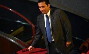 L'ex-capitaine du Costa Concordia Francesco Schettino arrive à son procès le 2 décembre 2014 à Grosseto