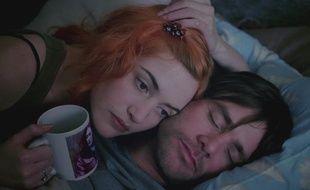 Kate Winslet et Jim Carrey dans Eternal Sunshine of the Spotless Mind de Michel Gondry