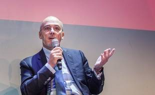Stéphane Richard, PDG d'Orange, le 2 décembre 2016 au 3e Sommet de l'économie, au Palais de Tokyo, à Paris. TRISTAN REYNAUD/SIPA