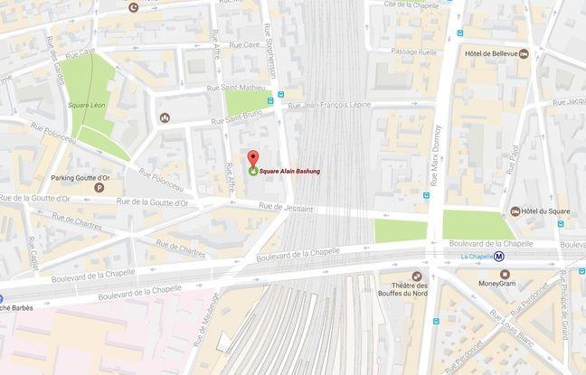 Le square Alain-Bashung dans le 18e arrondissement de Paris.