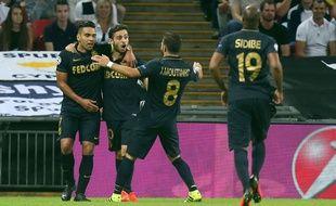 Les joueurs de l'ASM lors de la victoire à Wembley face à Tottenham