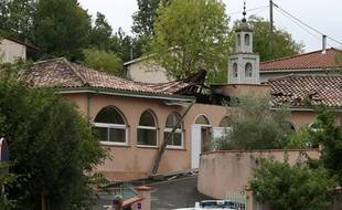 La mosquée d'Auch, dans le Gers, victime d'un incendie le 23 août 2015.