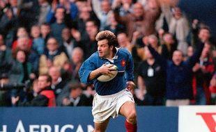 Christophe Dominici en 1999 contre les All-Blacks