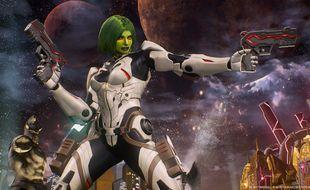 Dans ce jeu, les personnages des Gardiens de la Galaxie côtoient ceux du jeu vidéo Resident Evil ou Mega Man.