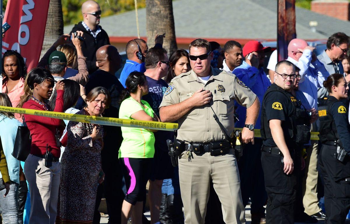 Au moins 14 personnes ont été tuées lors d'une fusillade à San Bernardino, en Californie, le 2 décembre 2015. – F.BROWN/AFP