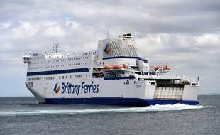 Illustration d'un bateau de la Brittany Ferries.