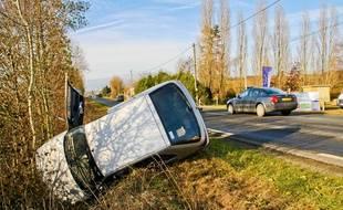 Illustration d'accident de la route.