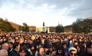La marche pour la paix à Montpellier.