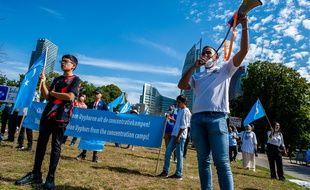 Une manifestation en faveur des Ouïghours, aux Pays-Bas le 20 août 2020.