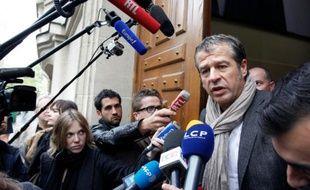 Frédéric Lagache, secrétaire général adjoint du syndicat de police, le 26 avril 2012 à Paris
