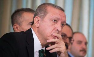 Le président turc Recep Tayyip Erdogan, lors d'une réunion à Paris, le 1er décembre 2015