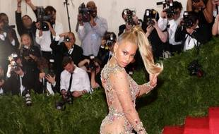 La chanteuse Beyoncé au Met Gala en 2015